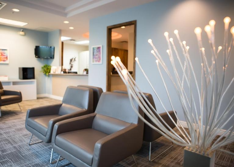 Reception Area at dental office | Dental Care and Moon Valley